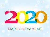Feliz Año Nuevo 2020 ilustración del vector