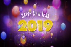 Feliz Año Nuevo 2019 stock de ilustración