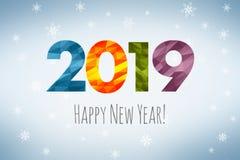 Feliz Año Nuevo 2019 foto de archivo libre de regalías