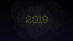 Feliz Año Nuevo 2019 almacen de metraje de vídeo