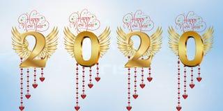 Feliz Año Nuevo 2020 stock de ilustración