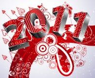Feliz Año Nuevo 2011 Fotografía de archivo libre de regalías