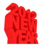 Feliz Año Nuevo 2012 Fotos de archivo libres de regalías