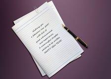 Feliz Año Nuevo 2012 Imagen de archivo libre de regalías