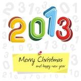 Feliz Año Nuevo 2013, diseño colorido stock de ilustración