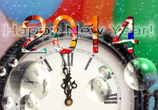 Feliz Año Nuevo 2014 Fotografía de archivo libre de regalías