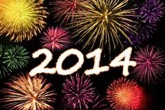 Feliz Año Nuevo 2014 Imágenes de archivo libres de regalías