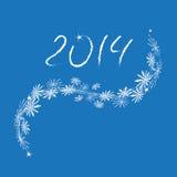 Feliz Año Nuevo 2014 imagen de archivo libre de regalías