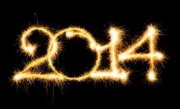 Feliz Año Nuevo - 2014 Imágenes de archivo libres de regalías