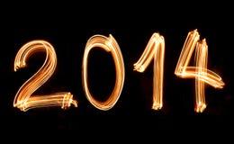 Feliz Año Nuevo 2014 Fotografía de archivo