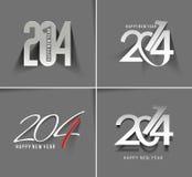 Feliz Año Nuevo 2014 Foto de archivo