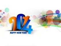 Feliz Año Nuevo 2014 ilustración del vector