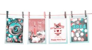 ¡Feliz Año Nuevo 2014! Imágenes de archivo libres de regalías