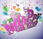 ¡Feliz Año Nuevo! ilustración del vector