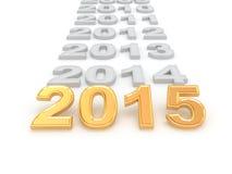 Feliz Año Nuevo 2015 Imagen de archivo libre de regalías