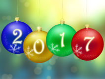 Feliz Año Nuevo 2017 Imagen de archivo
