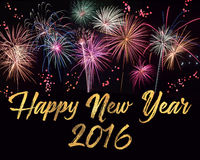 Feliz Año Nuevo Imagen de archivo libre de regalías