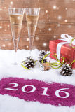 Feliz Año Nuevo 2016 Fotografía de archivo libre de regalías