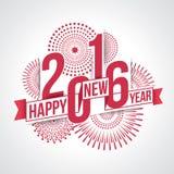 Feliz Año Nuevo 2016 stock de ilustración