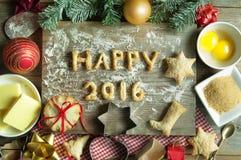 Feliz Año Nuevo 2016 Fotografía de archivo