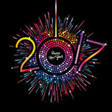 Feliz Año Nuevo - 2017 Foto de archivo