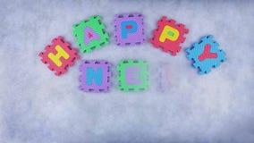 Feliz Año Nuevo almacen de video