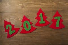 Feliz Año Nuevo 2017 Foto de archivo libre de regalías