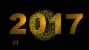 Feliz Año Nuevo 2017 almacen de video