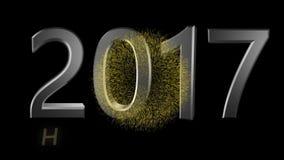 Feliz Año Nuevo 2017 almacen de metraje de vídeo