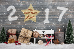 Feliz Año Nuevo 2017 Fotografía de archivo libre de regalías