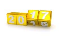 Feliz Año Nuevo 2017 Imagen de archivo libre de regalías