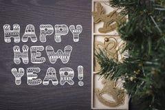 ¡Feliz Año Nuevo! Año Nuevo o tarjeta de Navidad Imágenes de archivo libres de regalías