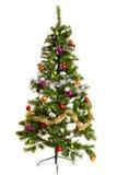 Feliz Año Nuevo aislada de las decoraciones del árbol de navidad Imágenes de archivo libres de regalías
