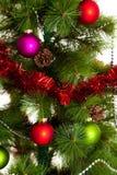 Feliz Año Nuevo aislada de las decoraciones del árbol de navidad Fotografía de archivo