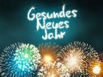 Feliz Año Nuevo alemana de Gesundes Neues Jahr Fotos de archivo