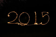 Feliz Año Nuevo - bengala 2015 Fotos de archivo