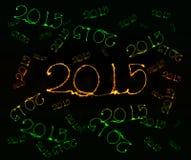 Feliz Año Nuevo - bengala 2015 Fotografía de archivo