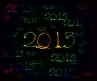 Feliz Año Nuevo - bengala 2015 Foto de archivo libre de regalías