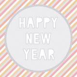 Feliz Año Nuevo card5 de saludo Fotos de archivo libres de regalías