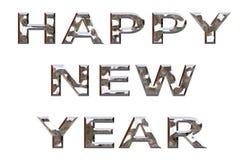 Feliz Año Nuevo Chrome Imagen de archivo libre de regalías