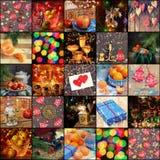 ¡Feliz Año Nuevo! Collage de las imágenes del Año Nuevo Imágenes de archivo libres de regalías