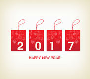 Feliz Año Nuevo 2017 con el ornamento de la bola Fotos de archivo libres de regalías