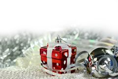 Feliz Año Nuevo con la decoración de la Navidad Fotografía de archivo libre de regalías