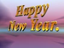 Feliz Año Nuevo con los fuegos artificiales. Fotografía de archivo libre de regalías