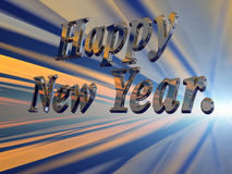 Feliz Año Nuevo con los fuegos artificiales. Fotos de archivo libres de regalías