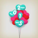 Feliz Año Nuevo con los globos Fotografía de archivo libre de regalías