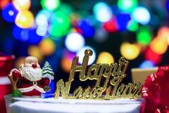 Feliz Año Nuevo con Papá Noel Fotos de archivo libres de regalías