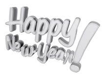 Feliz Año Nuevo congelada en 3D Stock de ilustración