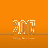 Feliz Año Nuevo creativa ilustración del vector