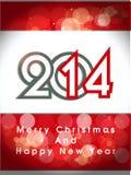 Feliz Año Nuevo creativa 2014 y cartel del partido de la Navidad design.celebration, bandera o invitaciones. Imagenes de archivo